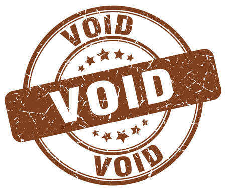void: void brown grunge round vintage rubber stamp Illustration