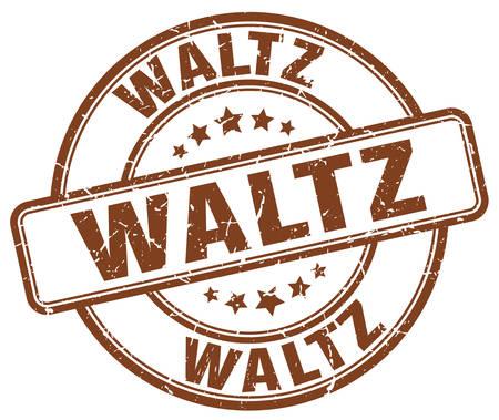 waltz: waltz brown grunge round vintage rubber stamp