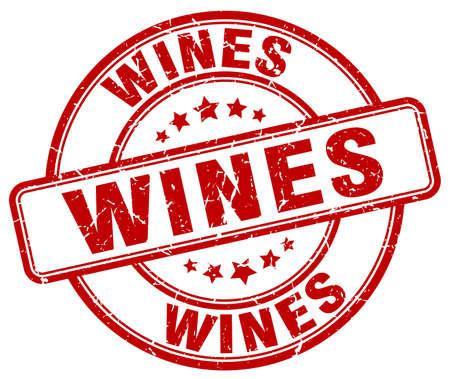 wines: wines red grunge round vintage rubber stamp
