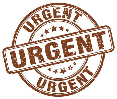 urgent: urgent brown grunge round vintage rubber stamp Illustration