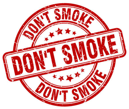 dont: dont smoke red grunge round vintage rubber stamp