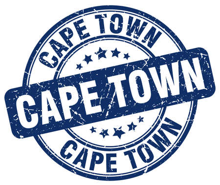 cape town: Cape Town blue grunge round vintage rubber stamp.Cape Town stamp.Cape Town round stamp.Cape Town grunge stamp.Cape Town.Cape Town vintage stamp.