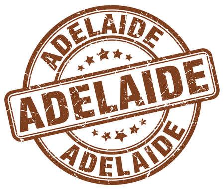adelaide: Adelaide brown grunge round vintage rubber stamp.Adelaide stamp.Adelaide round stamp.Adelaide grunge stamp.Adelaide.Adelaide vintage stamp. Illustration