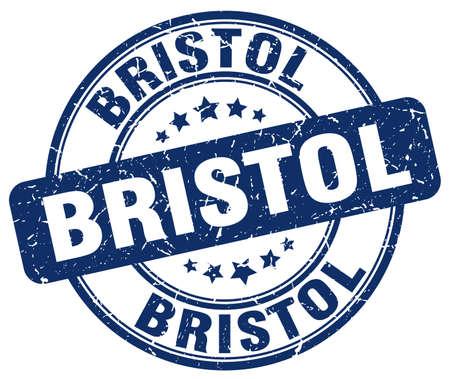 bristol: Bristol blue grunge round vintage rubber stamp.Bristol stamp.Bristol round stamp.Bristol grunge stamp.Bristol.Bristol vintage stamp.