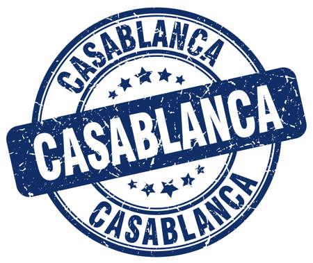 grunge rubber stamp: Casablanca blue grunge round vintage rubber stamp.Casablanca stamp.Casablanca round stamp.Casablanca grunge stamp.Casablanca.Casablanca vintage stamp.