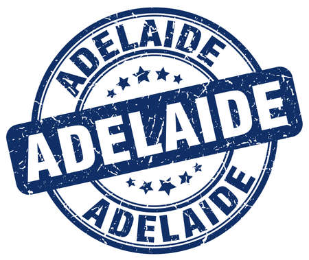 adelaide: Adelaide blue grunge round vintage rubber stamp.Adelaide stamp.Adelaide round stamp.Adelaide grunge stamp.Adelaide.Adelaide vintage stamp.