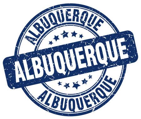 albuquerque: Albuquerque blue grunge round vintage rubber stamp.Albuquerque stamp.Albuquerque round stamp.Albuquerque grunge stamp.Albuquerque.Albuquerque vintage stamp. Illustration