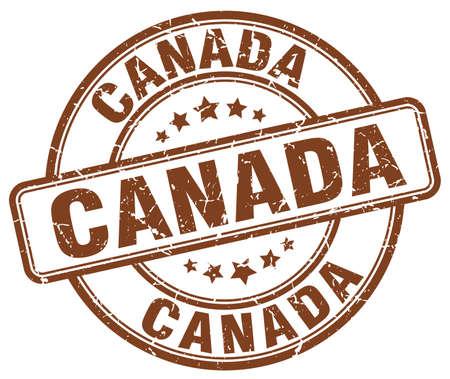 canada stamp: Canada brown grunge round vintage rubber stamp.Canada stamp.Canada round stamp.Canada grunge stamp.Canada.Canada vintage stamp.