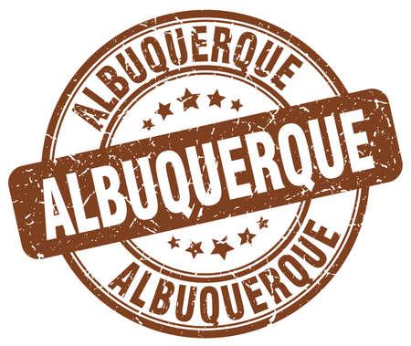 albuquerque: Albuquerque brown grunge round vintage rubber stamp.Albuquerque stamp.Albuquerque round stamp.Albuquerque grunge stamp.Albuquerque.Albuquerque vintage stamp. Illustration