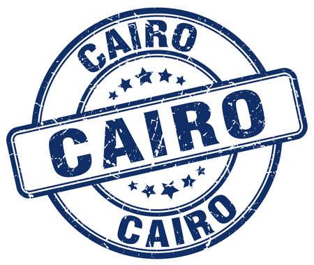 cairo: Cairo blue grunge round vintage rubber stamp.Cairo stamp.Cairo round stamp.Cairo grunge stamp.Cairo.Cairo vintage stamp. Illustration