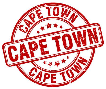 cape town: Cape Town red grunge round vintage rubber stamp.Cape Town stamp.Cape Town round stamp.Cape Town grunge stamp.Cape Town.Cape Town vintage stamp.