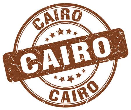 cairo: Cairo brown grunge round vintage rubber stamp.Cairo stamp.Cairo round stamp.Cairo grunge stamp.Cairo.Cairo vintage stamp.