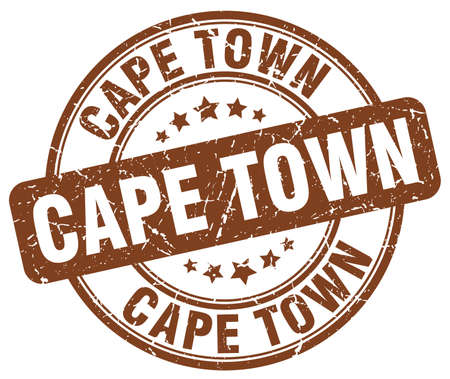 cape town: Cape Town brown grunge round vintage rubber stamp.Cape Town stamp.Cape Town round stamp.Cape Town grunge stamp.Cape Town.Cape Town vintage stamp. Illustration