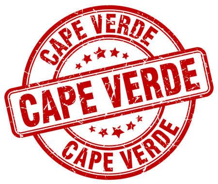 verde: Cape Verde red grunge round vintage rubber stamp.Cape Verde stamp.Cape Verde round stamp.Cape Verde grunge stamp.Cape Verde.Cape Verde vintage stamp. Illustration