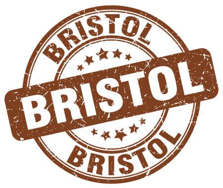 bristol: Bristol brown grunge round vintage rubber stamp.Bristol stamp.Bristol round stamp.Bristol grunge stamp.Bristol.Bristol vintage stamp.