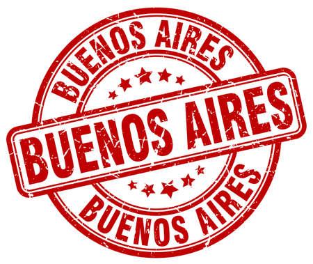 buenos: Buenos Aires red grunge round vintage rubber stamp.Buenos Aires stamp.Buenos Aires round stamp.Buenos Aires grunge stamp.Buenos Aires.Buenos Aires vintage stamp.