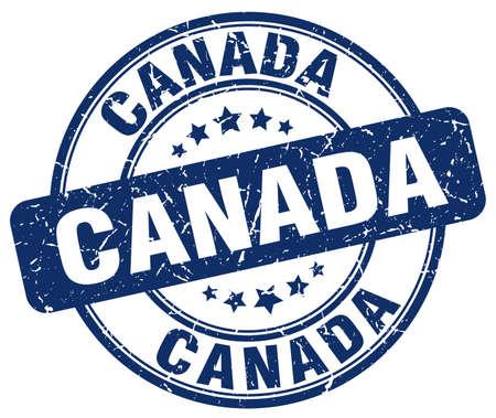 canada stamp: Canada blue grunge round vintage rubber stamp.Canada stamp.Canada round stamp.Canada grunge stamp.Canada.Canada vintage stamp.