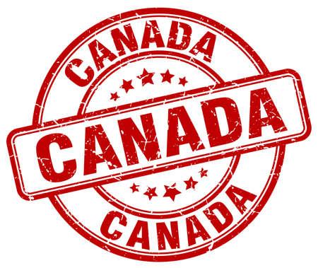 canada stamp: Canada red grunge round vintage rubber stamp.Canada stamp.Canada round stamp.Canada grunge stamp.Canada.Canada vintage stamp.