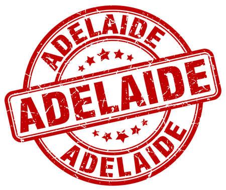 adelaide: Adelaide red grunge round vintage rubber stamp.Adelaide stamp.Adelaide round stamp.Adelaide grunge stamp.Adelaide.Adelaide vintage stamp. Illustration