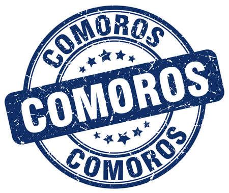 comoros: Comoros blue grunge round vintage rubber stamp.Comoros stamp.Comoros round stamp.Comoros grunge stamp.Comoros.Comoros vintage stamp.