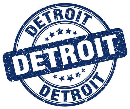 detroit: Detroit blue grunge round vintage rubber stamp.Detroit stamp.Detroit round stamp.Detroit grunge stamp.Detroit.Detroit vintage stamp.
