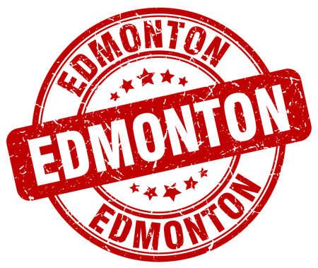 edmonton: Edmonton red grunge round vintage rubber stamp.Edmonton stamp.Edmonton round stamp.Edmonton grunge stamp.Edmonton.Edmonton vintage stamp.