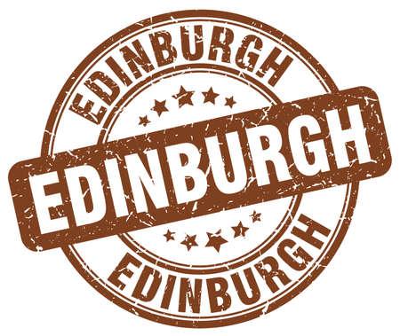 edinburgh: Edinburgh brown grunge round vintage rubber stamp.Edinburgh stamp.Edinburgh round stamp.Edinburgh grunge stamp.Edinburgh.Edinburgh vintage stamp.