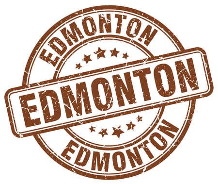 edmonton: Edmonton brown grunge round vintage rubber stamp.Edmonton stamp.Edmonton round stamp.Edmonton grunge stamp.Edmonton.Edmonton vintage stamp. Illustration
