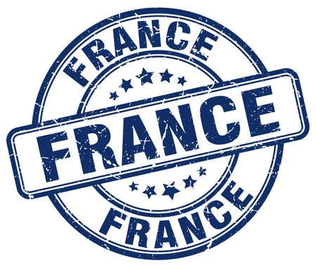 france stamp: France blue grunge round vintage rubber stamp.France stamp.France round stamp.France grunge stamp.France.France vintage stamp. Illustration