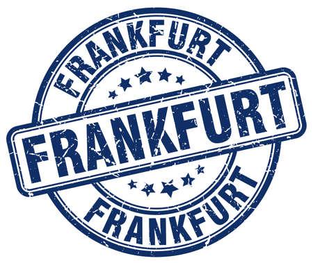 frankfurt: Frankfurt blue grunge round vintage rubber stamp.Frankfurt stamp.Frankfurt round stamp.Frankfurt grunge stamp.Frankfurt.Frankfurt vintage stamp.
