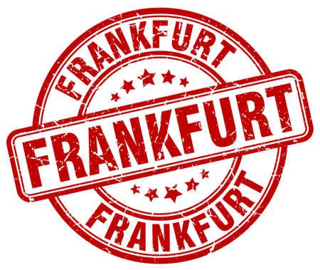 frankfurt: Frankfurt red grunge round vintage rubber stamp.Frankfurt stamp.Frankfurt round stamp.Frankfurt grunge stamp.Frankfurt.Frankfurt vintage stamp.