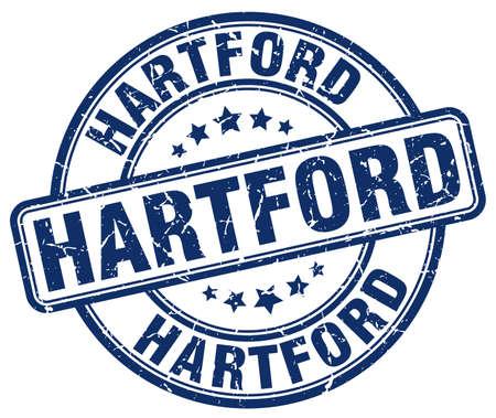 hartford: Hartford blue grunge round vintage rubber stamp.Hartford stamp.Hartford round stamp.Hartford grunge stamp.Hartford.Hartford vintage stamp. Illustration