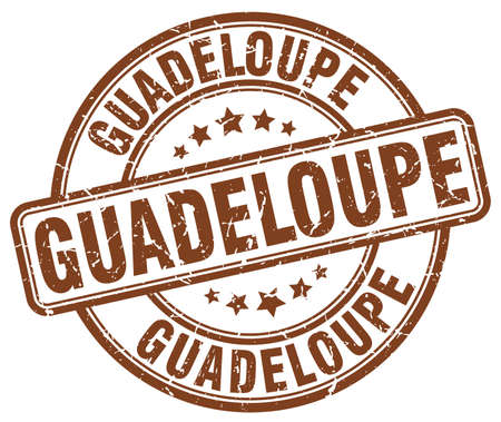 guadeloupe: Guadeloupe brown grunge round vintage rubber stamp.Guadeloupe stamp.Guadeloupe round stamp.Guadeloupe grunge stamp.Guadeloupe.Guadeloupe vintage stamp.