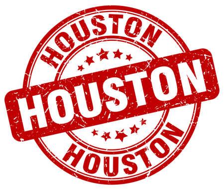 houston: Houston red grunge round vintage rubber stamp.Houston stamp.Houston round stamp.Houston grunge stamp.Houston.Houston vintage stamp. Illustration