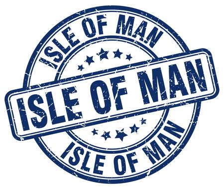 isles: Isle Of Man blue grunge round vintage rubber stamp.Isle Of Man stamp.Isle Of Man round stamp.Isle Of Man grunge stamp.Isle Of Man.Isle Of Man vintage stamp. Illustration