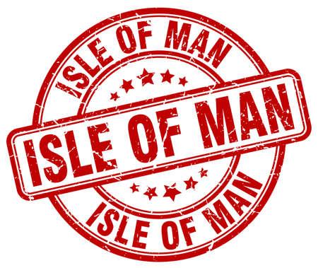 isles: Isle Of Man red grunge round vintage rubber stamp.Isle Of Man stamp.Isle Of Man round stamp.Isle Of Man grunge stamp.Isle Of Man.Isle Of Man vintage stamp.