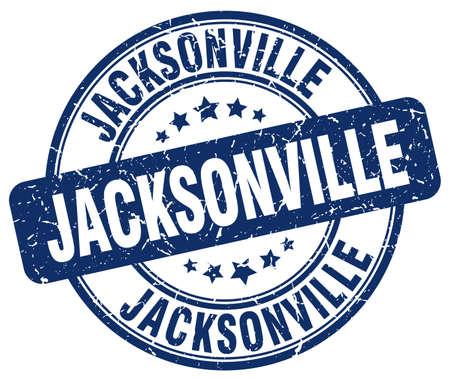 jacksonville: Jacksonville blue grunge round vintage rubber stamp.Jacksonville stamp.Jacksonville round stamp.Jacksonville grunge stamp.Jacksonville.Jacksonville vintage stamp.