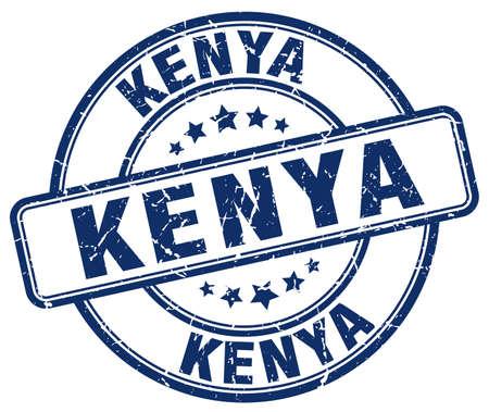 Timbro di gomma d'annata rotondo di lerciume blu del Kenya Timbro del Kenia Timbro rotondo del Kenia Timbro del grunge di Kenia Timbro d'annata del Kenia Kenia. Vettoriali