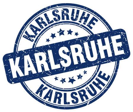 karlsruhe: Karlsruhe blue grunge round vintage rubber stamp.Karlsruhe stamp.Karlsruhe round stamp.Karlsruhe grunge stamp.Karlsruhe.Karlsruhe vintage stamp.