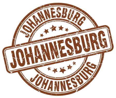 Johannesburg brown grunge round vintage rubber stamp.Johannesburg stamp.Johannesburg round stamp.Johannesburg grunge stamp.Johannesburg.Johannesburg vintage stamp.
