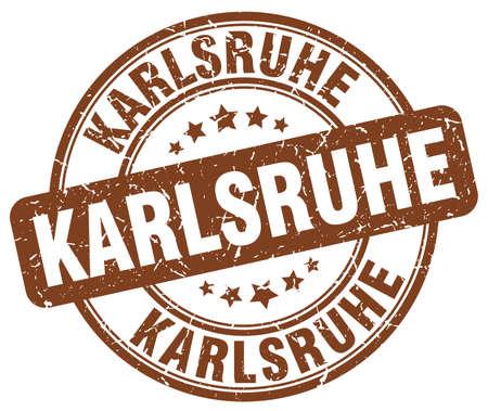 karlsruhe: Karlsruhe brown grunge round vintage rubber stamp.Karlsruhe stamp.Karlsruhe round stamp.Karlsruhe grunge stamp.Karlsruhe.Karlsruhe vintage stamp.