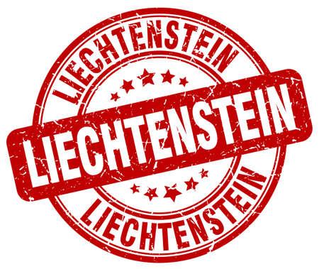 liechtenstein: Liechtenstein red grunge round vintage rubber stamp.Liechtenstein stamp.Liechtenstein round stamp.Liechtenstein grunge stamp.Liechtenstein.Liechtenstein vintage stamp.