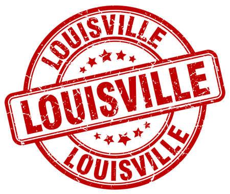 louisville: Louisville red grunge round vintage rubber stamp.Louisville stamp.Louisville round stamp.Louisville grunge stamp.Louisville.Louisville vintage stamp.