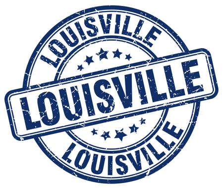louisville: Louisville blue grunge round vintage rubber stamp.Louisville stamp.Louisville round stamp.Louisville grunge stamp.Louisville.Louisville vintage stamp.