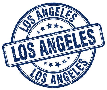 angeles: Los Angeles blue grunge round vintage rubber stamp.Los Angeles stamp.Los Angeles round stamp.Los Angeles grunge stamp.Los Angeles.Los Angeles vintage stamp.