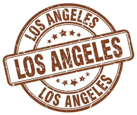 angeles: Los Angeles brown grunge round vintage rubber stamp.Los Angeles stamp.Los Angeles round stamp.Los Angeles grunge stamp.Los Angeles.Los Angeles vintage stamp.