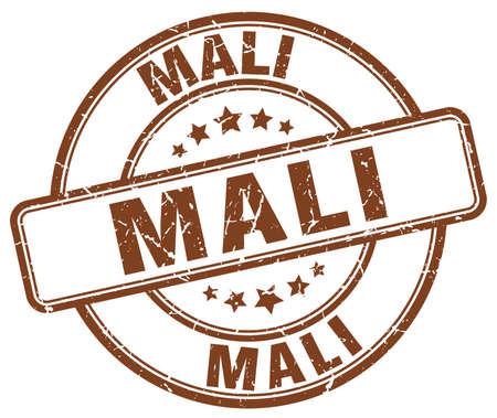 mali: Mali brown grunge round vintage rubber stamp.Mali stamp.Mali round stamp.Mali grunge stamp.Mali.Mali vintage stamp.