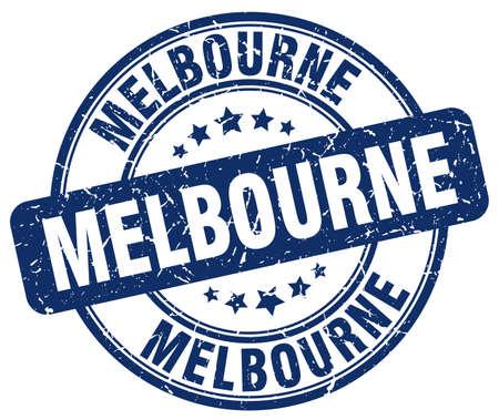 melbourne: Melbourne blue grunge round vintage rubber stamp.Melbourne stamp.Melbourne round stamp.Melbourne grunge stamp.Melbourne.Melbourne vintage stamp.