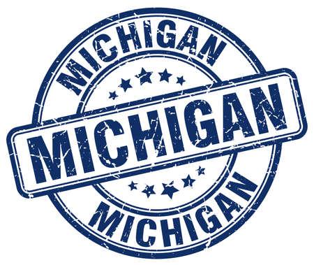 Michigan blue grunge round vintage rubber stamp.Michigan stamp.Michigan round stamp.Michigan grunge stamp.Michigan.Michigan vintage stamp.