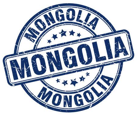 Mongolia blue grunge round vintage rubber stamp.Mongolia stamp.Mongolia round stamp.Mongolia grunge stamp.Mongolia.Mongolia vintage stamp.